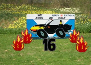 Hot Rod Car - 16th Birthday
